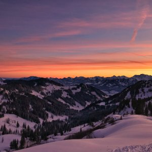 Sonnenaufgang auf dem Riedbergerhorn
