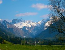 Aussicht zum Trettachal mit dessen Bergen