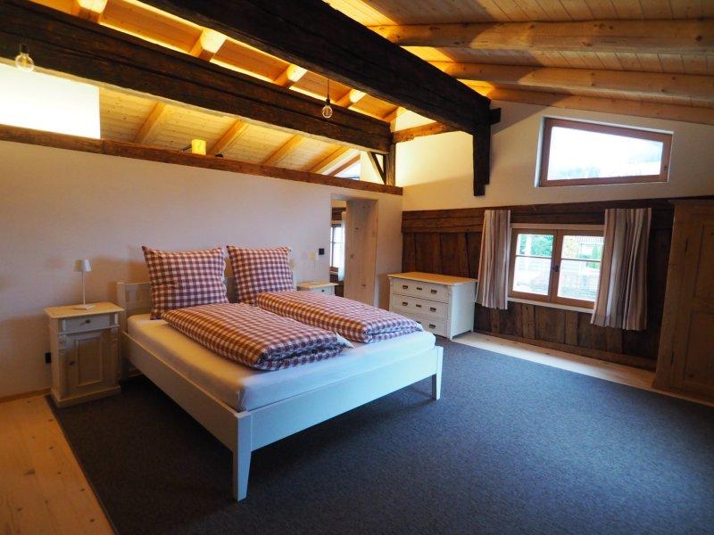 Schlafzimmer OG Ferienwohnung Lexar Hüs Oberstdorf