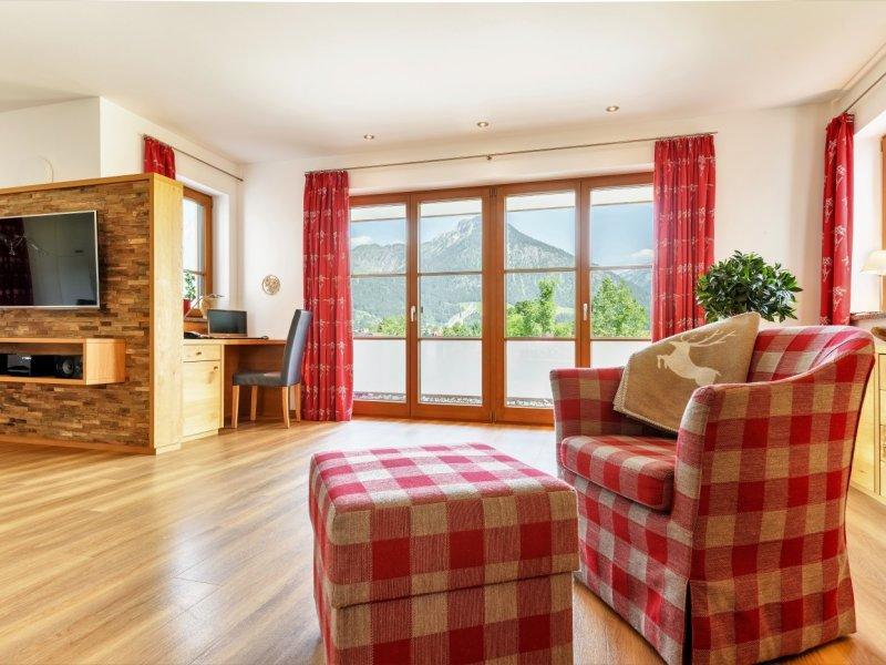 Das Wohnzimmer | Ausblick auf die Bergwelt