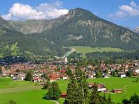 Oberstdorf vom Landhaus Stillachaue