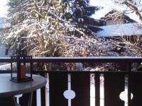 winterlicher Balkon