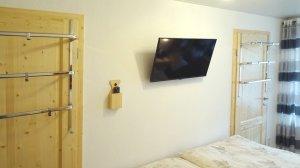 Schlafzimmer mit eigenem Fernseher