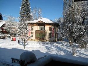 Blick in den winterlichen Park