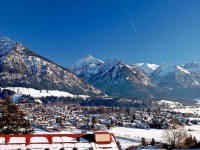 Blick über Oberstdorf (Winter)
