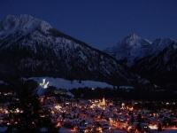 Nächtlicher Blick über Oberstdorf