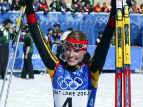 Salt Lake City 2002 - Evi Ziel Staffel (c) Hemmersbach