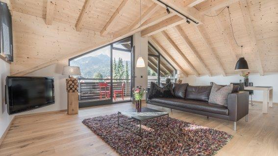 Wohnbereich Ferienwohnung Gams