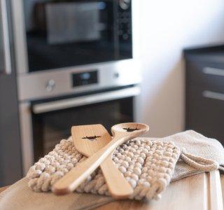 Hochwertige Küche Ferienwohnung Gams