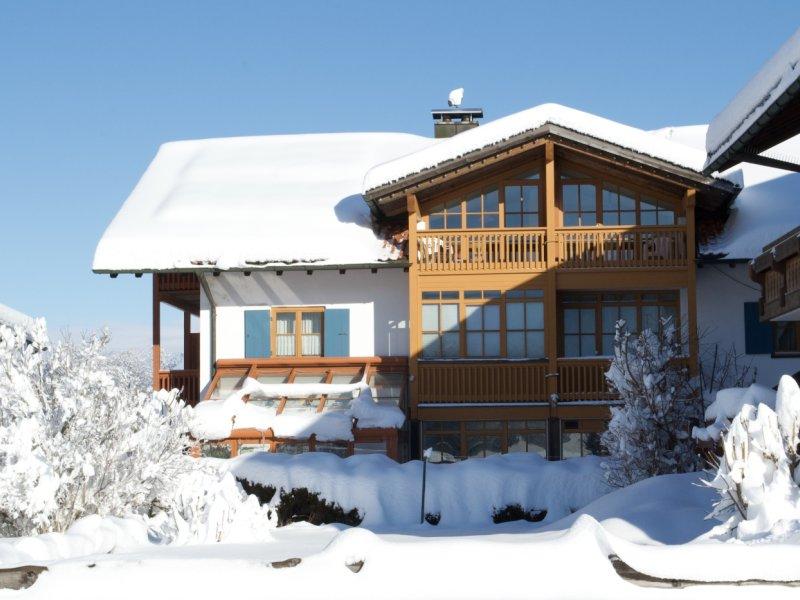Haussüdansicht Winter