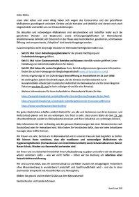 Hinweise und Informationen - Deutsch / Englisch
