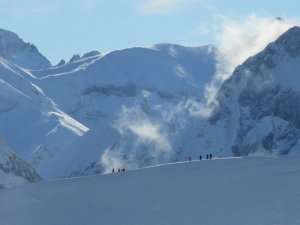 Winterwanderweg an der Nebelhornbahn in 1900m NN