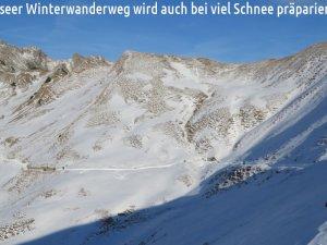 Vor dem großen Schnee sind noch mehr Winterwanderziele erreichbar