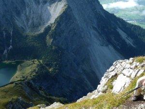 Entschenkopf, die Wolkendecke über Oberstdorf hatte sich nur am Mittag kurz gelockert, überm unteren Tal gar nicht.