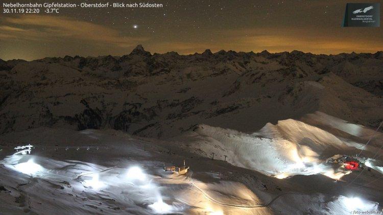 Beschneiung am Nebelhorn