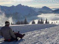 Rodelbahnam am Breitenberg-die längste im Allgäu