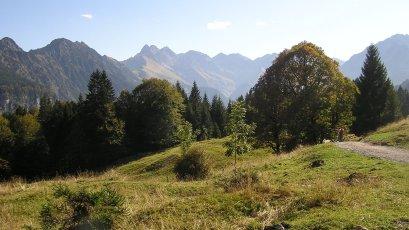 Schöne Wanderwege mit Bergblick