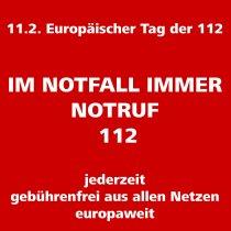 Notruf 112 - jederzeit - europaweit