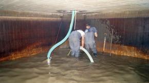 Reinigung Löschwasserbehälter