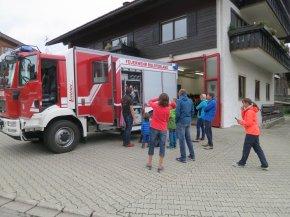 Gästebesuch Feuerwehr