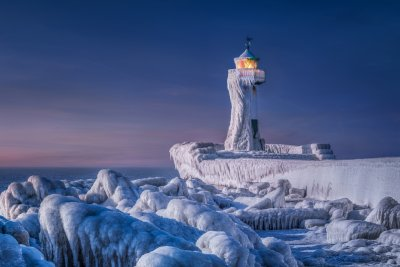 CEWE Photo Award Overall winner Frozen Lighthouse by Manfred Voss Landscapes