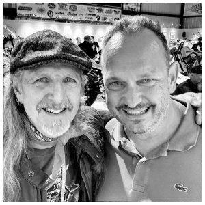Sturgis, Buffalo Chip und andere Kleinigkeiten, Doobie Brother Patrick Simmons mit unserem Kurator Christian Popkes