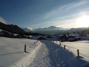 Winter Wanderweg Reichenbach