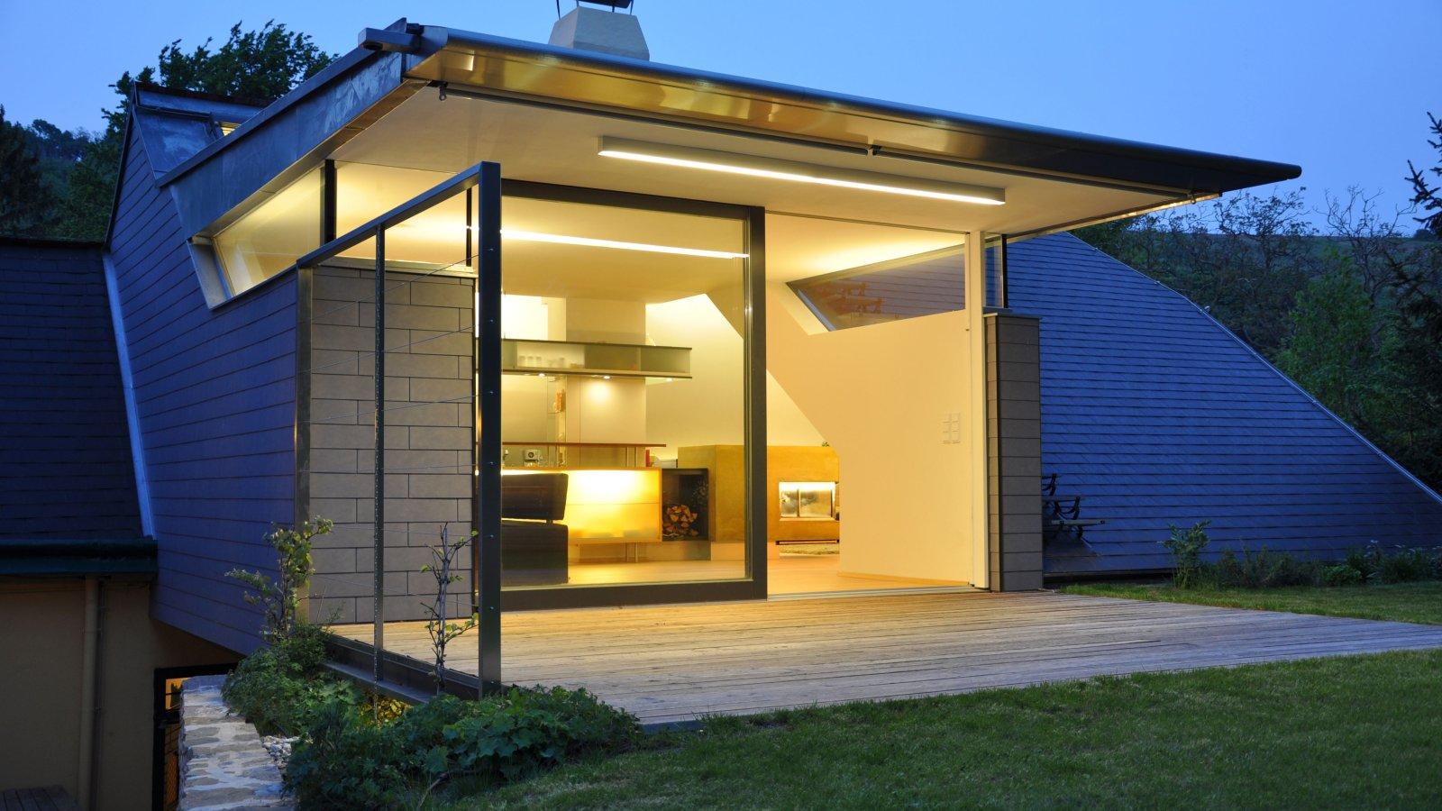 led au enbeleuchtung modernes haus. Black Bedroom Furniture Sets. Home Design Ideas