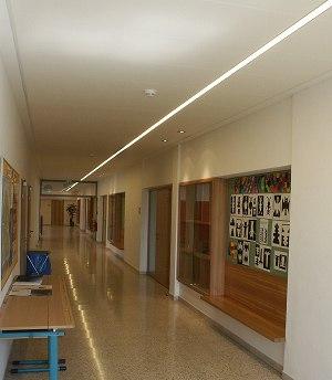 Flurbeleuchtung in der Schule