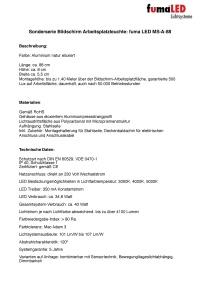 Datenblatt Arbeitsplatzbeleuchtung MS A 88 Kopie