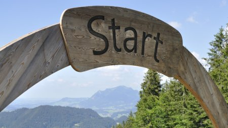 Grüntenblick vom Söllereck Start
