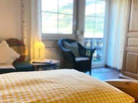 Schlafzimmer Ferienwohnung Illerschleife