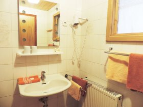 Badezimmer Ferienwohnung Burgwohnung