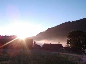 Sonnenaufgang am Gablerhof