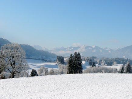 Winterlandschaft direkt hinter dem Gablerhof