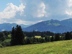 Panorama-Aussicht im Sommer