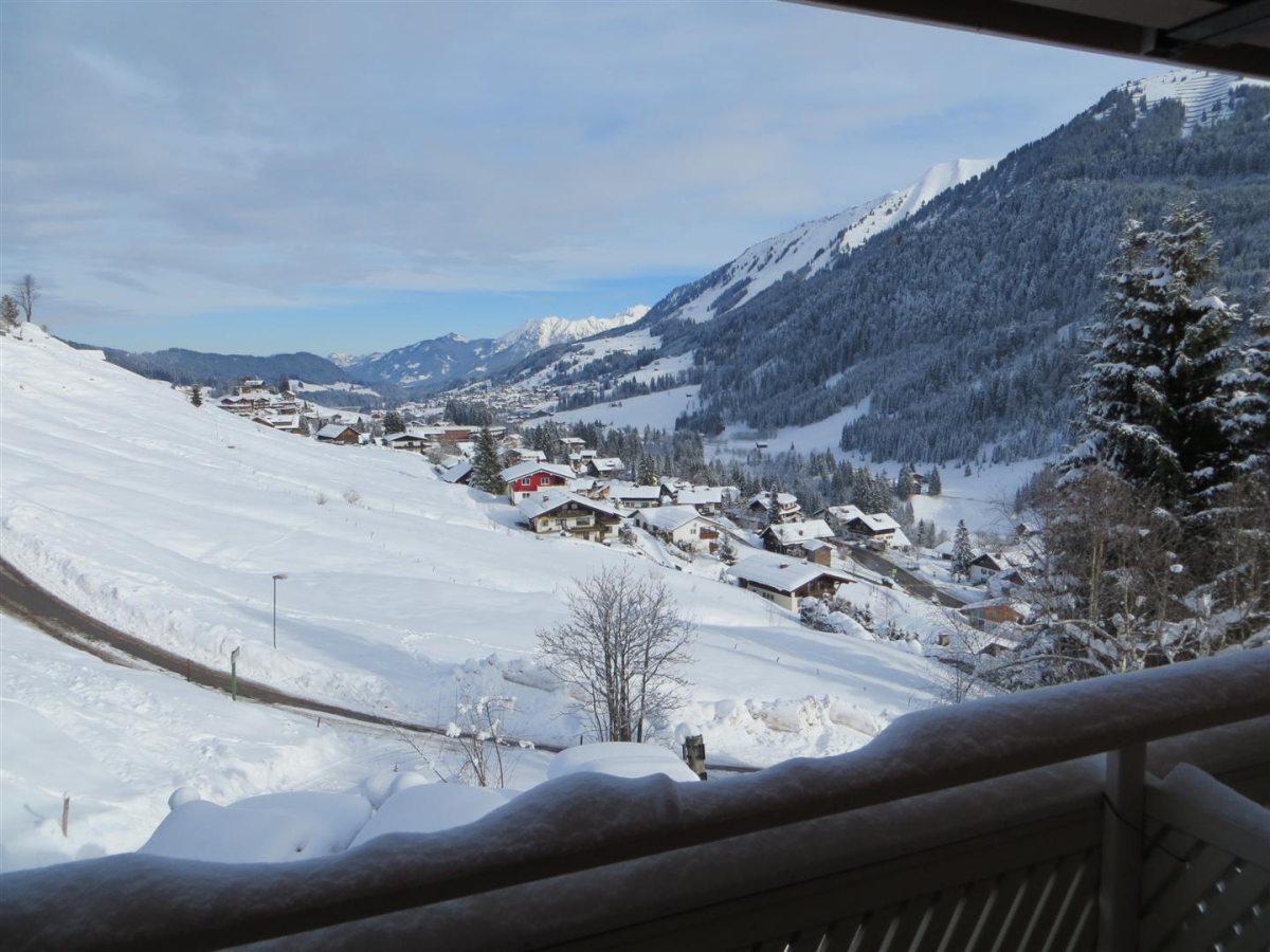 Ferienwohnung Fellhorn - Aussicht vom Balkon