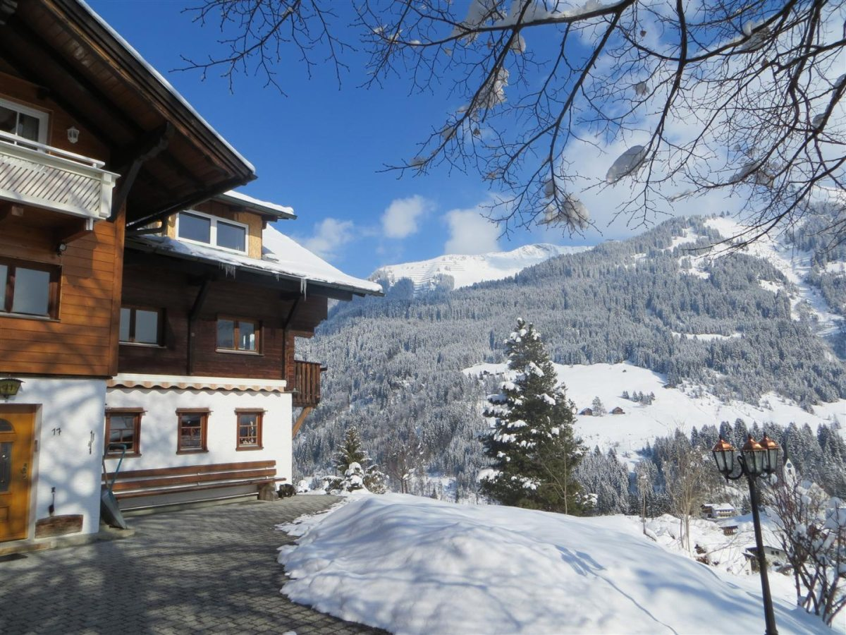 Gästehaus am Berg im Winter