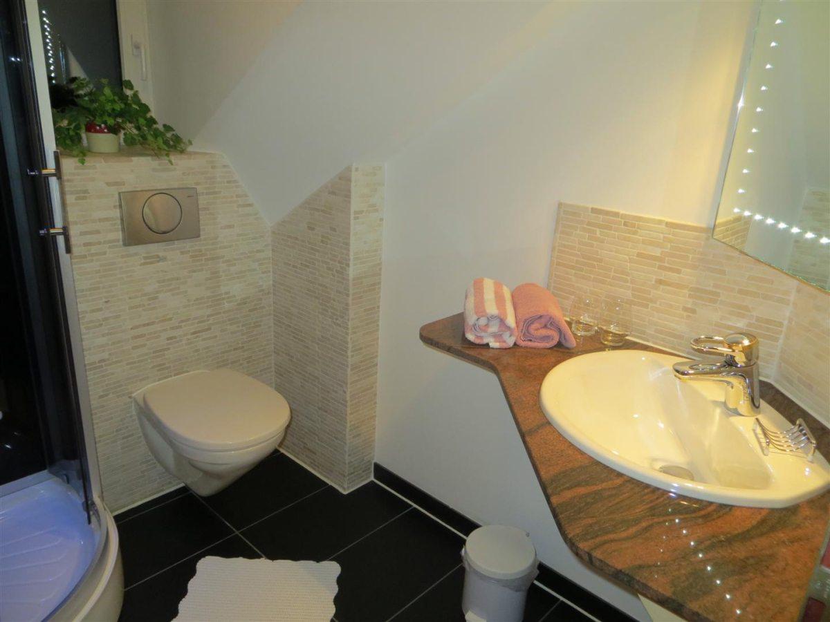 Ferienwohnung Panorama - kleines Badezimmer