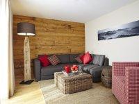 Wohnzimmer Granat