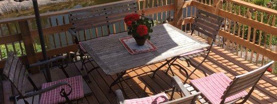 Garten Frühstücksterasse Gäste