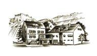 Zeichnung der Mühlenschenke in St Goar