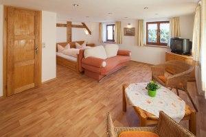 Ferienwohnungsbeispiel Grünten Wohn- Schlafzimmer