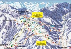 Pistenplan Skigebiet