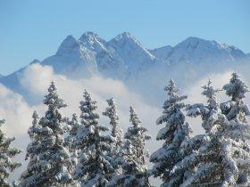 Blick auf Trettach, Mädelegabel, Hochfrottspitze