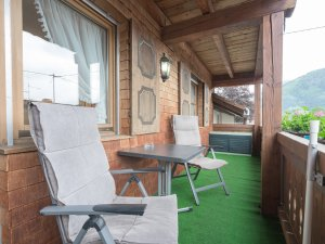 Ferienwohnung Straussberg Balkon