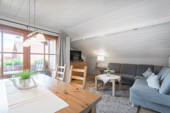 Ferienwohnung Ornachstube Wohnzimmer