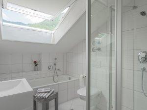 Ferienwohnung Ornachstube Badezimmer