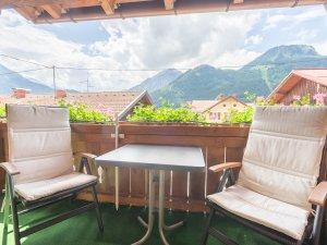 Ferienwohnung Rotspitzstube Balkon