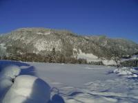 Winterlandschaft vor unserem Haus